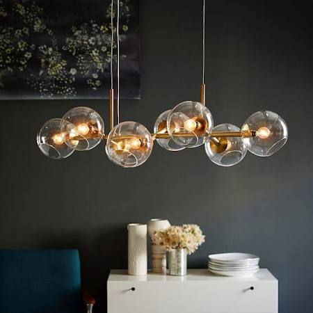 Staggared Glass Chandelier - west elm